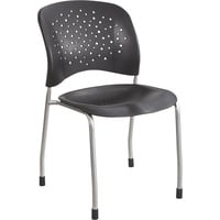 Mayline Safco Reve Guest Chairs with Straight Legs and Round Back — Set of 2