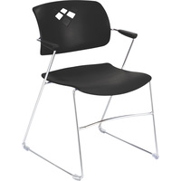 Mayline Safco Veer Flex Frame Stacking Chairs — Set of 4