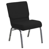 Flash Furniture Extra-Wide Fabric Church Chair, 21in.W x 25in.D x 33in.H