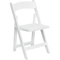 Flash Furniture Wood Folding Chair with Detachable Vinyl Seat, 17.5in.W x 17in.D x 30.5in.H