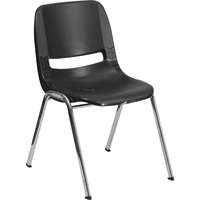 Flash Furniture Plastic Student Stack Chair, 15.25in.W x 19.25in.D x 24.5in.H