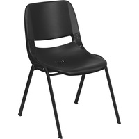 Flash Furniture Plastic Student Stack Chair, 17.25in.W x 21.5in.D x 29in.H