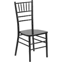 Flash Furniture Wood Chiavari Stacking Chair, 15.75in.W x 18in.D x 36.25in.H