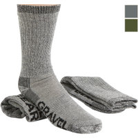 FREE SHIPPING — Gravel Gear Merino Wool Blend Midweight Crew Socks — 2-Pair, 11in. Crew Length
