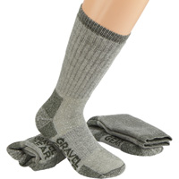 FREE SHIPPING - Gravel Gear Men's Merino Wool Blend Heavyweight Boot Socks - 2-Pair, 13in. Boot Length, Olive