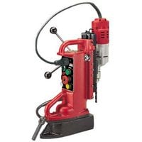 FREE SHIPPING — Milwaukee Electromagnetic Drill Press Base and 7.2 Amp Motor — Adjustable Position, Model# 4204-1