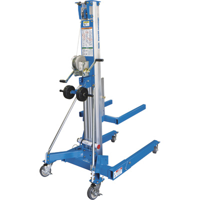 Genie Superlift Advantage Manual Material Lift with Straddle Base —15ft. Lift,  800-Lb. Capacity, Model# SLA-15