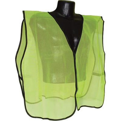 Radians Men's Non-Rated High Visibility Universal Mesh Safety Vest — Lime