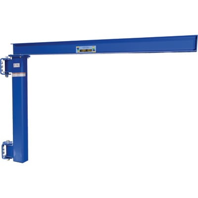 Vestil Wall-Mounted Jib Crane for Low Ceilings – 1,000-Lb. Capacity, Model# JIB-LC-6