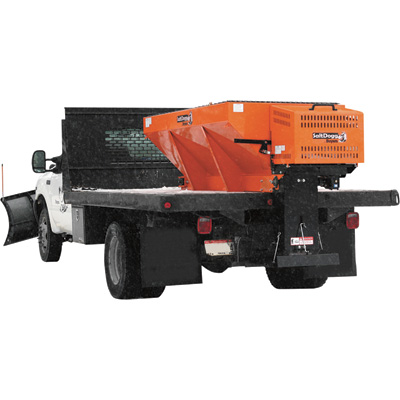 SaltDogg Professional Hopper Sand and Salt Spreader with Extended Chute and Spinner