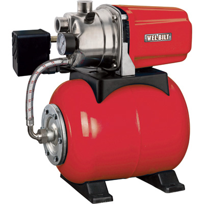 """Shallow Well Jet Water Pump - 898 GPH, 1 HP, 1in. Ports, Model# JGP12001CHT"""