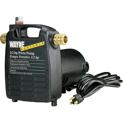 Wayne Cast Iron Portable Transfer Water Pump — 1,450 GPH, 1/2 HP, 3/4in., Model# PC4