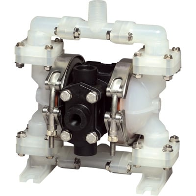 Sandpiper Air-Operated Double Diaphragm Oil Pump — 1/4in. Inlet, 4 GPM, Polypropylene/PTFE, Model# PB1/4, TT3PA