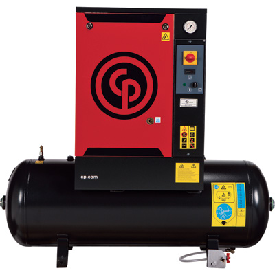 FREE SHIPPING — Chicago Pneumatic Quiet Rotary Screw Air Compressor — 7.5 HP, 230 Volts, 3 Phase, Model# QRS7.5HP-3