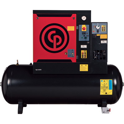 FREE SHIPPING — Chicago Pneumatic Quiet Rotary Screw Air Compressor with Dryer — 10 HP, 230 Volts, 3 Phase, Model# QRS10HPD-150