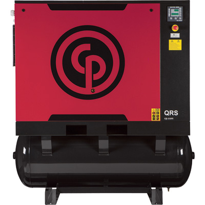 FREE SHIPPING — Chicago Pneumatic Quiet Rotary Screw Air Compressor with Dryer, Model# QRS20HPD