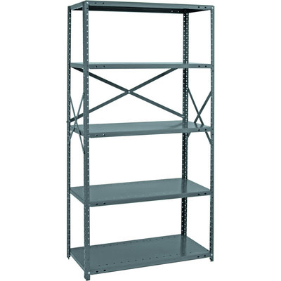 Quantum Heavy-Duty 18-Gauge Industrial Steel Shelving — 7 Shelves, 48in.W x 24in.D x 75in.H, Model# 18G-75-2448-7