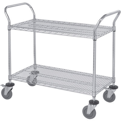 """Quantum Wire Shelving Mobile Utility Cart - 2 Shelves, 18in.W x 48in.L x 38in.H, Model# WRC-1848-2"""