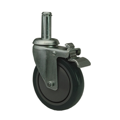 Quantum Swivel Stem Casters for Wire Shelving System — Poly, Model# WR-00H