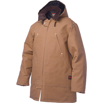 Tough Duck Men's Hydro Parka with Hood - 2XL, Brown