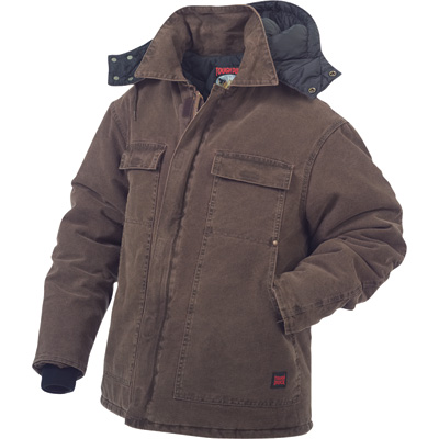 Tough Duck Men's Washed Polyfill Parka with Hood - 2XL, Chestnut