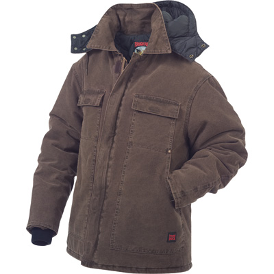 Tough Duck Men's Washed Polyfill Parka with Hood — Regular Sizes