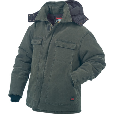 Tough Duck Men's Washed Polyfill Parka with Hood - 3XL, Moss