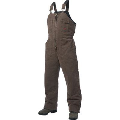 Tough Duck Men's Washed Insulated Overall - S, Chestnut