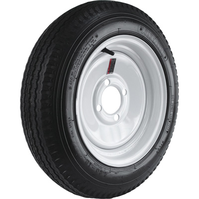 4-Hole High Speed Standard Rim Design Trailer Tire Assembly — 20.5in. x 4.80 x 12