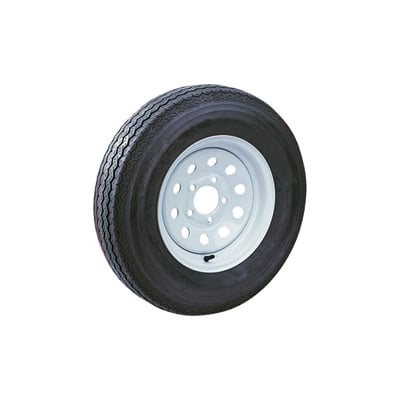 Kenda Loadstar 12in. Bias-Ply Trailer Tire and Wheel Assembly — 20.5 x 4.80 x 12, 5-Hole, Load Range C, Model# DM412C-5MMIN