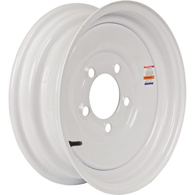Martin Wheel 12in. Standard Trailer Tire Wheel — Rim Only, Fits Tire Sizes 4.80 x 12, 5.30 x 12, 5-Hole, Model# R-125-VN