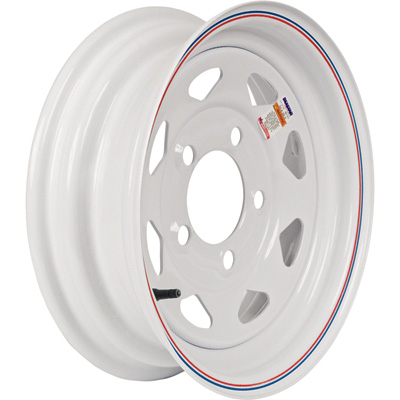 Martin Wheel 12in. Spoked Trailer Tire Wheel — Rim Only, Fits Tire Sizes 4.80 x 12, 5.30 x 12, 5-Hole, Model# R-125S-VN