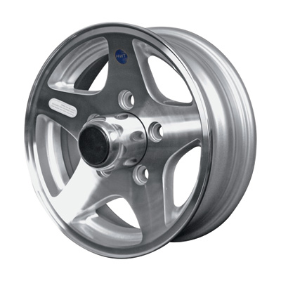 Martin Wheel Aluminum Star Mag 12in. Trailer Wheel — Rim Only, Fits Tire Sizes 480 x 12, 530 x 12, 4-Hole, Model# R-124-ASM