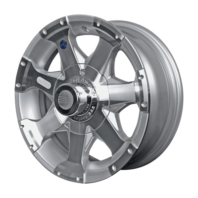 Martin Wheel Aluminum 15in. Spoked Trailer Tire Wheel — Rim Only, 5-Hole, Model# R-155-AS