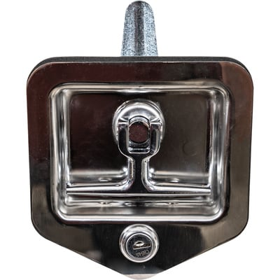 Buyers Stainless Steel Folding T-Latch With Blind Studs and Gasket - Fits 3 3/4in. x 4in. recess