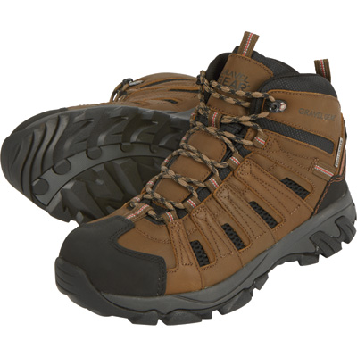 FREE SHIPPING - Gravel Gear Men's Waterproof 6in. Mid Hiker Boots - Brown, Size 8