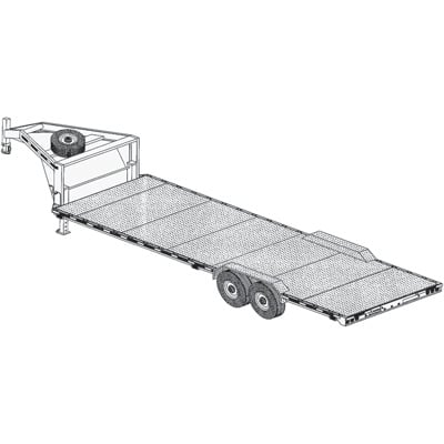 Trailer Blueprints - 26ft. x 8ft. 6in. Flat Deck Auto Hauler