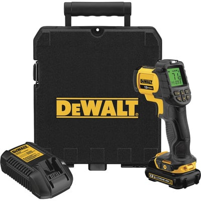 FREE SHIPPING — DEWALT Cordless IR Thermometer — 12 Volt MAX, Model# DCT414S1