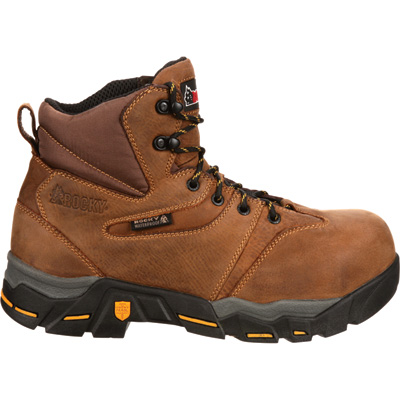 Rocky Men's 6in. Nail Guard Work Boots - Size 9 1/2, Model# RKYK110