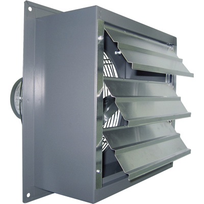 """Canarm Wall Exhaust Fan - 16in., Variable Speed, 1/3 HP, 2,370 CFM, Model# S16-EVD"""