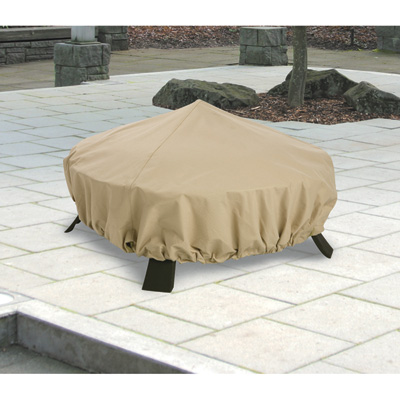 Classic Accessories Terrazzo Fire Pit Cover — Round, Sand, 44in. Dia., Model# 58992