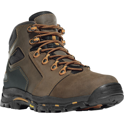FREE SHIPPING — Danner Vicious 4 1/2in. Waterproof Gore-Tex Non-Metallic Work Boots - Brown/Orange, Size 9, Model# 13860