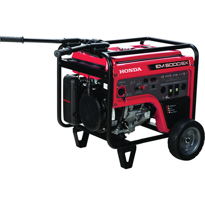 """Honda EM5000S iAVR Portable Generator - 5000 Surge Watts, 4500 Rated Watts, Electric Start, CARB-Compliant, Model# EM5000SXK3"""