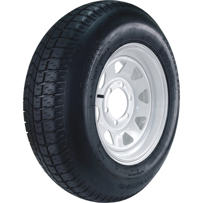 Kenda Carrier Star 15in. Bias-Ply Trailer Tire and Wheel Assembly — ST225/75D-15, 6-Hole, Load Range D, Model# DM225D5D-6CT