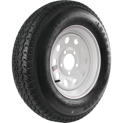 FREE SHIPPING — Kenda Loadstar 13in. Bias-Ply Trailer Tire and Wheel Assembly — ST175/80D13, 5-Hole, Load Range D, Model# DM175D3D-5MM