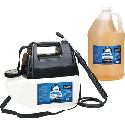 Bare Ground Deluxe System — Battery-Operated Sprayer, 1-Gallon Liquid De-Icer, Model# BGPS-1