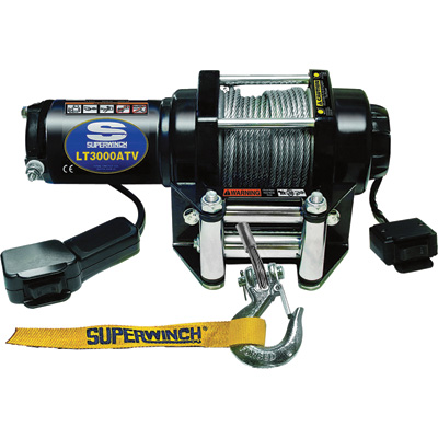Superwinch 12 Volt DC Powered Electric ATV Winch — 3000-Lb. Capacity, Wire Rope, Model# 1130220