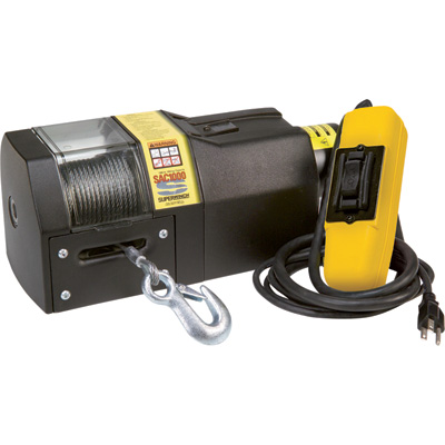 """Superwinch 110 Volt AC Powered Electric Winch - 1000-Lb. Capacity, Model# SAC1000"""
