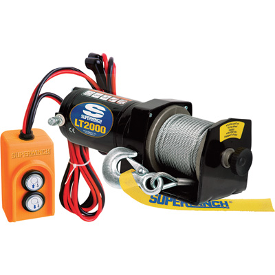 Superwinch 12 Volt DC Powererd Electric Utility Winch — 2000-Lb. Capacity, Galvanized Wire Rope, Model# 1220210