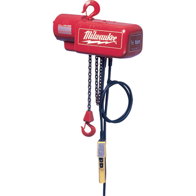 Milwaukee Electric Chain Hoist — 1-Ton Capacity, 20Ft. Lift, Model# 9568
